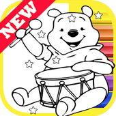 How Draw for Winnie the Coloring Bear Pooh by Fans icon
