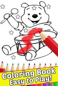 How Draw for Winnie the Coloring Bear Pooh by Fans poster
