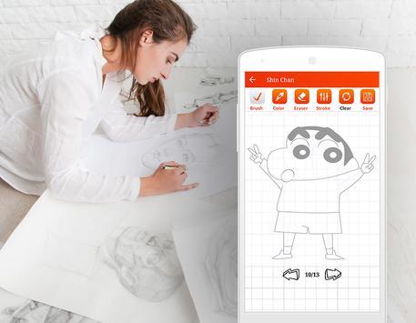 Learn to Draw Anime Shin Chan Step by Step screenshot 4