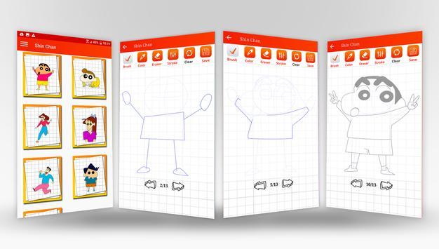 Learn to Draw Anime Shin Chan Step by Step screenshot 5