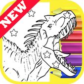 How Draw Coloring Lego Jurassic Dino World by Fans icon