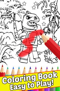 How Draw Coloring Lego Jurassic Dino World by Fans poster