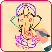 Draw Lord Ganesha Sketch icon
