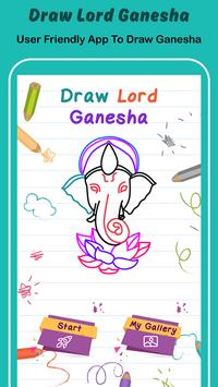 Draw Lord Ganesha Sketch poster