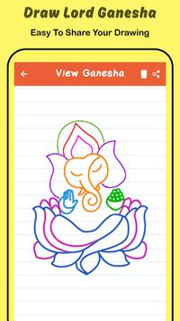 Draw Lord Ganesha Sketch screenshot 5
