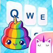 Dream Rainbow Unicorn Keyboard Theme for Girls icon