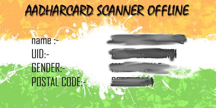 Aadhar Card Scanner 2018 apk screenshot