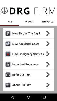 DRG Law Injury Help App screenshot 1