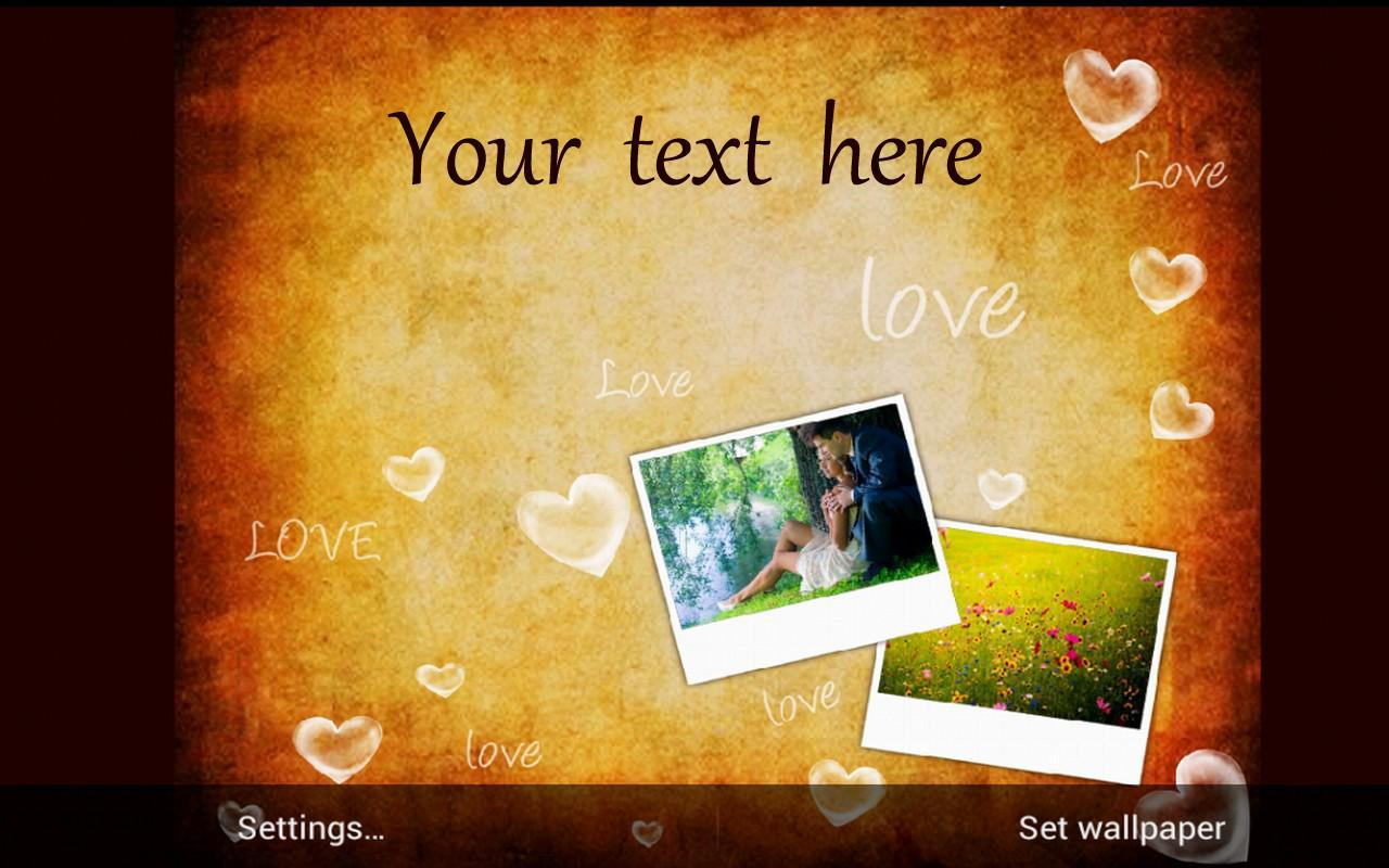 Modern Romantic Photo Live Wallpaper Free APK Download - Free Personalization APP for Android ...
