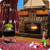 Romantic Fireplace Live Wallpaper Free icon