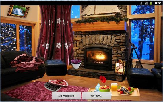 Romantic Fireplace Live Wallpaper Free screenshot 10