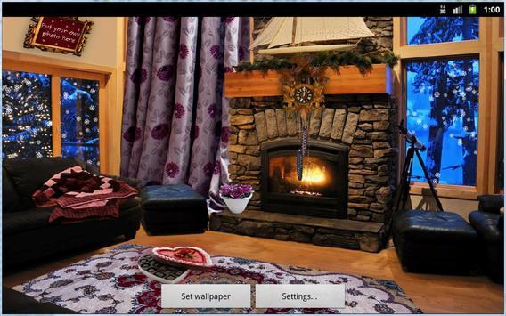 Romantic Fireplace Live Wallpaper Free screenshot 2