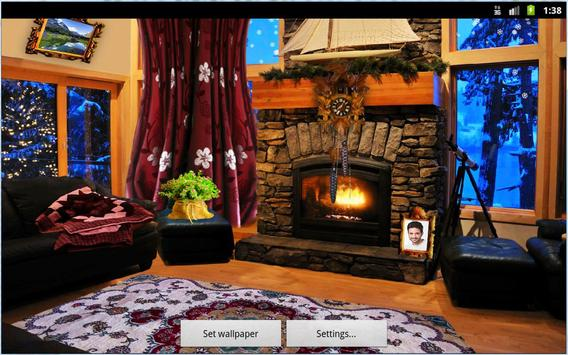 Romantic Fireplace Live Wallpaper Free screenshot 3