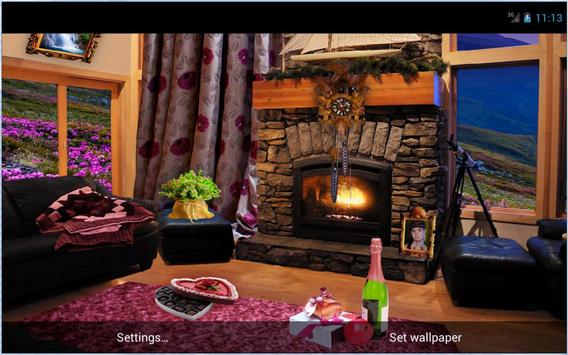 Romantic Fireplace Live Wallpaper Free apk screenshot