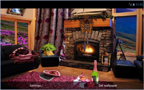Romantic Fireplace Live Wallpaper Free screenshot 5