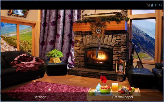 Romantic Fireplace Live Wallpaper Free screenshot 7