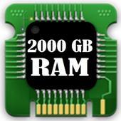 2000 gb ram storage cleaner icon
