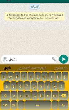 Tamil Keyboard - Thanglish Typing apk screenshot