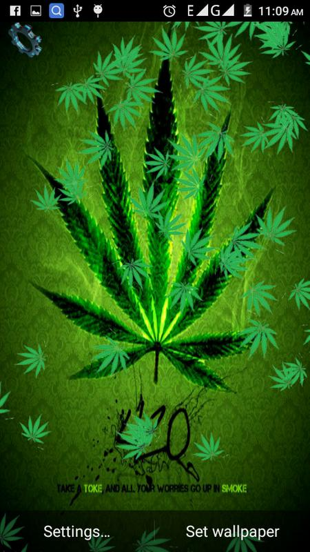 Trippy Weed Live Wallpaper Apk