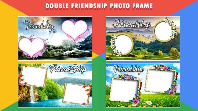 Friendship Dual Photo Frame poster