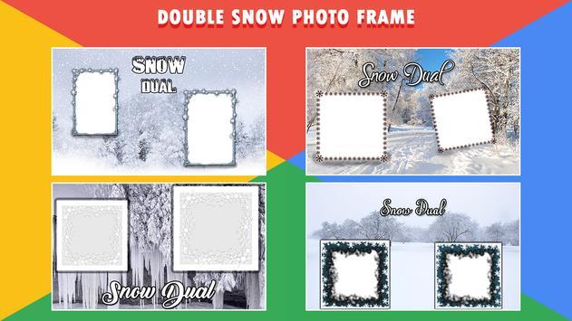 Snow Dual Photo Frame poster