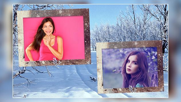 Snow Dual Photo Frame screenshot 3