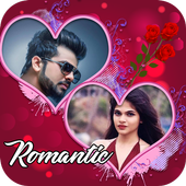 Romantic Love Dual Photo Frame icon