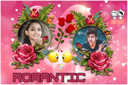 Romantic Love Dual Photo Frame screenshot 5