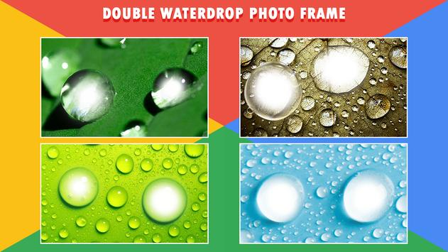 Water Drop Dual Photo Frame poster