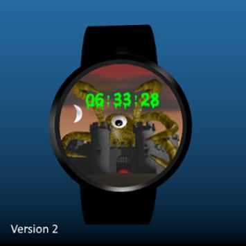 Spooky Castle Watchface screenshot 1