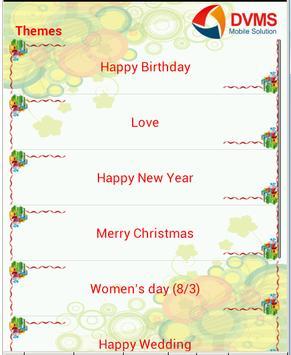 Greeting messenger apk screenshot