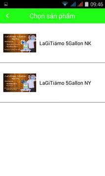 Nước uống đóng bình LaGiTiámo apk screenshot