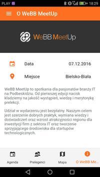 WeBB MeetUp #7 poster