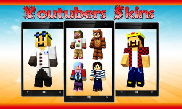 Skins Youtubers For Minecraft New For Android APK Download - Skins para minecraft youtubers
