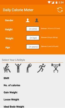Daily Calories Meter screenshot 1