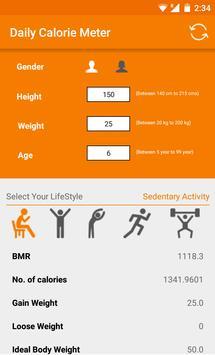 Daily Calories Meter screenshot 2