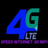 Speed Internet 3G 4G Wifi icon