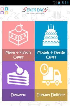 SevenDays Cakes screenshot 1