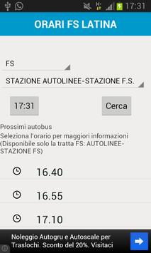 Orari FS Latina screenshot 3