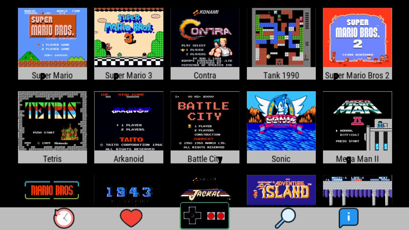 descargar juegos para free nes emulator