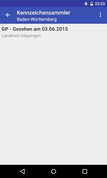 Kennzeichensammler apk screenshot