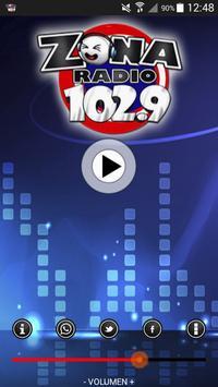 ZONA RADIO 102.9 poster