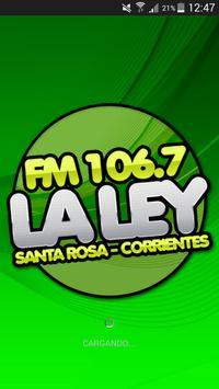 FM LA LEY 106.7 poster