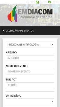 EMDIACOM Calendário de Eventos apk screenshot