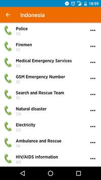 Emergency Numbers screenshot 2