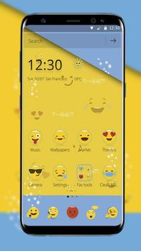 Smiley Emoji Cute Theme screenshot 1
