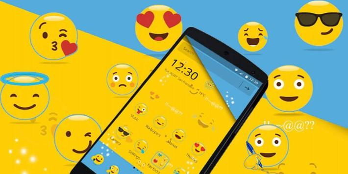 Smiley Emoji Cute Theme screenshot 3