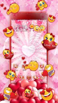 3D Valentine Love Emoji Theme poster