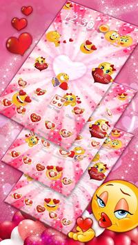 3D Valentine Love Emoji Theme screenshot 1