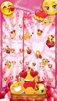 3D Valentine Love Emoji Theme screenshot 2